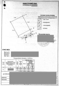 Кадастровий план земельної ділянки зразок