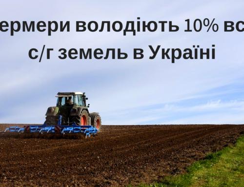 Фермери володіють 10% всіх аграрних земель в Україні